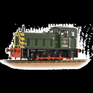 31-361B Bachmann OO Gauge Class 03 D2028 BR Green (Wasp Stripes)