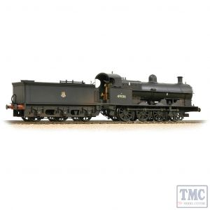 31-481 Bachmann OO Gauge LNWR G2A Open Cab 49106 BR Black (Early Emblem) - Weathered