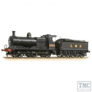 31-627B Bachmann OO Gauge MR 3F with Johnson Tender 3520 LMS Black (Original)
