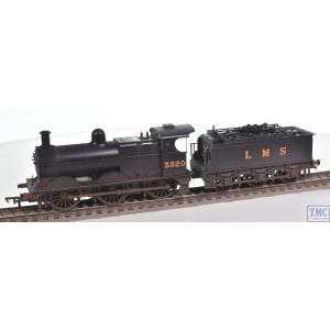 31-627B Bachmann OO Gauge Class 3F 3520 LMS Black Deeley Tender Real Coal Glossed & Deluxe Weathered by TMC