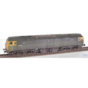 31-656 Bachmann OO Gauge Class 47/0 47256 BR Green Full Yellow Ends (TOPS) Weathered