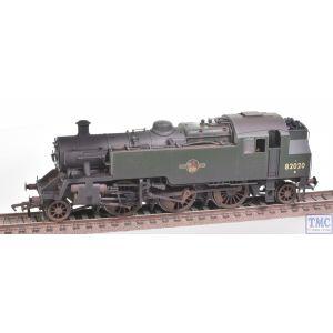 31-980 Bachmann OO Gauge BR Standard Class 3MT Tank 82020 BR Green L/Crest Weathered