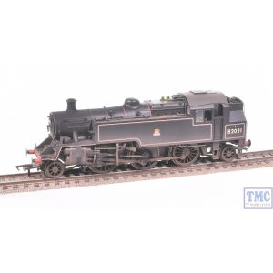 31-981 Bachmann OO Gauge BR Standard Class 3MT Tank 82021 BR Lined Black E/Emb Real Coal & Weathered by TMC