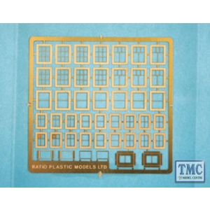 310 Ratio Domestic Windows N Gauge Plastic Kit
