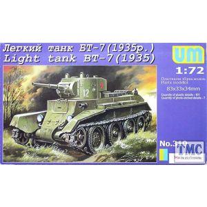 UM 1:72 Light Tank BT-7 kit no 310 (Pre owned)
