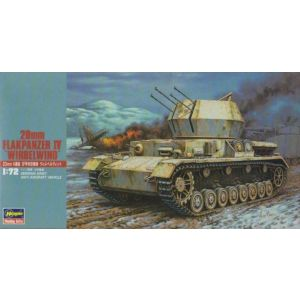 Hasegawa 1:72 20mm Flakpanzer IV 'Wirbelwind'  German Army Anti-Aircraft Vehicle Kit No 31148 1:72 Scale (Pre owned)