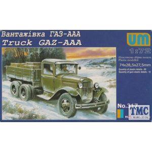 UM 1:72 Truck GAZ-AAA 343 Models kit no 317 (Pre owned)
