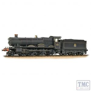 32-002A Bachmann OO Gauge GWR 49XX 'Hall' 4971 'Stanway Hall' BR Lined Black (Early Emblem) - Weathered