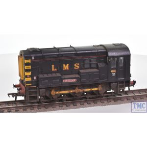 32-106K Bachmann OO Gauge Class 08 601 Spectre LMS Black Ex-Bachmann Collectors Club with Extra Detail Weathering by TMC