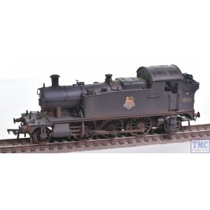32-137A Bachmann OO Gauge Class 4575 Prairie Tank 4592 BR Plain Black E/Emb Real Coal & Weathered by TMC (Pre-owned)
