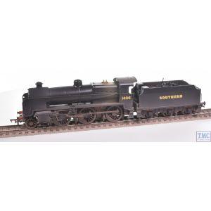 32-166 Bachmann OO Gauge SE&CR N Class with Sloping-Top Tender 1406 SR Black (Sunshine)