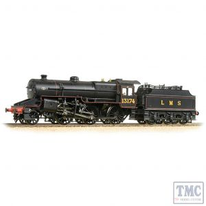 32-178A Bachmann OO Gauge LMS 5MT 'Crab' with Welded Tender 13174 LMS Lined Black (Original)