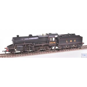 32-178A Bachmann OO Gauge 2-6-0 Crab 13174 LMS Lined Black Welded Tender Real Coal & Deluxe Weathering by TMC