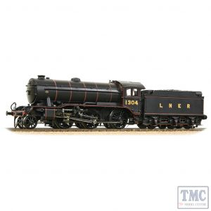 32-279A Bachmann OO Gauge LNER K3 with LNER Group Standard Flush-Sided Tender 1304 LNER Lined Black
