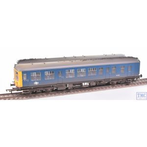 32-517 Bachmann OO Gauge Derby Lightweight 2 Car DMU BR Blue with Full Yellow Ends Weathered By TMC