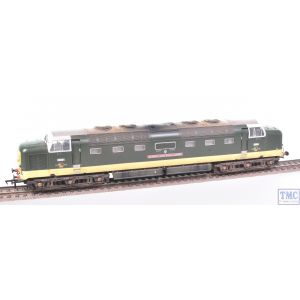 32-525 Bachmann OO Gauge Class 55 Deltic D9004 Queens Own Highlander BR Green Weathered by TMC (Pre-owned)