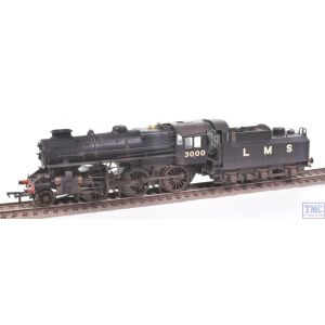 32-575A Bachmann OO Gauge Ivatt Class 4MT 3000 LMS Black Double Chimney Real Coal & Deluxe Weathering by TMC