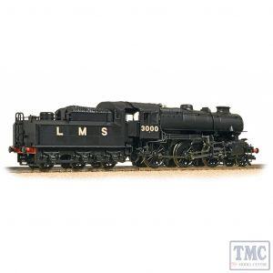 32-575A Bachmann OO Gauge LMS Ivatt 4MT Double Chimney 3000 LMS Black (Revised)