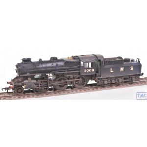 32-575A Bachmann OO Gauge Ivatt Class 4MT 3000 LMS Black Double Chimney Real Coal & Weathered by TMC