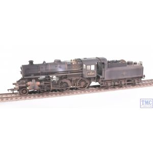 32-580A Bachmann OO Gauge LMS Ivatt 4MT Single Chimney 43014 BR Lined Black (Late Crest) Real Coal & Weathered by TMC