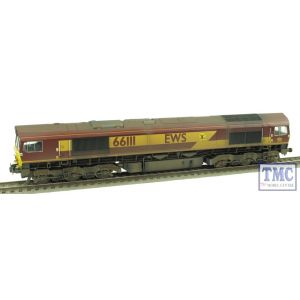 32-725U Bachmann OO/HO Gauge Class 66 Diesel 66111 EWS (DCC Sound Fitted) Weathered by TMC (Pre-Owned)