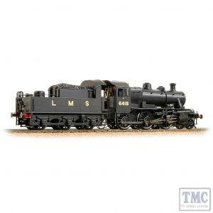 32-830A Bachmann OO Gauge LMS Ivatt 2MT 6418 LMS Black (Revised)