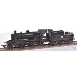 32-830A Bachmann OO Gauge LMS Ivatt 2MT 6418 LMS Black (Revised) Real Coal & Weathered by TMC