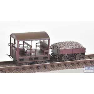 32-991 Bachmann OO Gauge Wickham Type 27 Trolley Car BR Maroon Ballast Load and Weathered by TMC