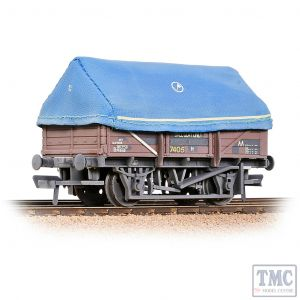 33-085A Bachmann OO Gauge 5 Plank China Clay Wagon with Hood BR Bauxite Weathered