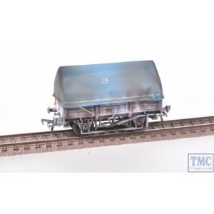 33-085A Bachmann OO Gauge 5 Plank China Clay Wagon BR Bauxite (TOPS)(with Hood) Deluxe Weathering by TMC