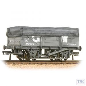 33-088 Bachmann OO Gauge 5 Plank China Clay Wagon with Hood GWR Grey Weathered