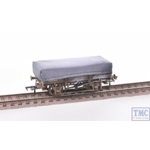 33-088 Bachmann OO Gauge 5 Plank China Clay Wagon GWR Grey (with Tarpaulin Cover) Deluxe Weathering by TMC