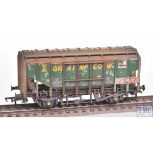 33-132 Bachmann OO Gauge BR 41T Bulk Grain Hopper BRT 'Grainflow' Green - Weathered