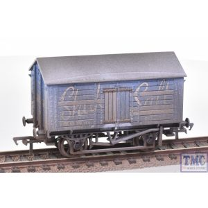 33-179B Bachmann OO Gauge 10T Covered Salt Wagon Shaka Salt Blue with Deluxe Weathering by TMC