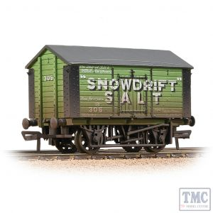 33-182A Bachmann OO Gauge 10T Covered Salt Wagon 'Snowdrift Salt' Green - Weathered