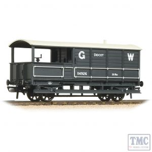 33-300G Bachmann OO Gauge 20 Ton Toad Brake Van GWR Grey