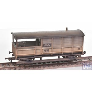 33-308A Bachmann OO Gauge GWR 20T 'Toad' Brake Van BR Grey (Early) - Weathered