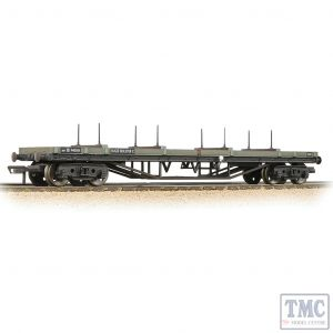 33-856E Bachmann OO Gauge 30T Bogie Bolster BR Grey (Early) - Weathered