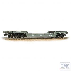 33-878A Bachmann OO Gauge 45T Bogie Well Wagon LMS Grey