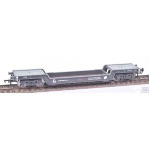 33-900D Bachmann OO Gauge Crocodile H 45T Bogie Well Wagon GWR Dark Grey 41901