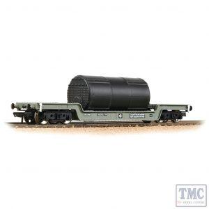 33-901F Bachmann OO Gauge 45T Bogie Well Wagon BR Grey (Early) - Includes Wagon Load