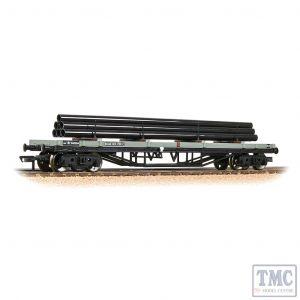 33-929C Bachmann OO Gauge 30T Bogie Bolster BR Grey (Early) - Includes Wagon Load