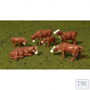33102 Woodland Scenics HO Cows - Black & White (6Pcs/Pk)
