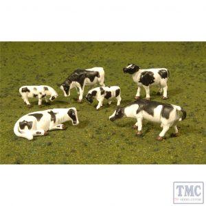 33103 Woodland Scenics HO Cows - Black & White (6Pcs/Pk)