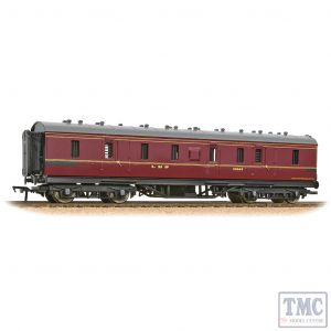 34-327E Bachmann OO Gauge LMS Stanier 50ft Full Brake LMS Crimson Lake