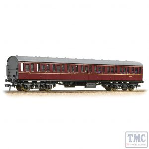 34-604C Bachmann OO Gauge BR Mk1 57ft 'Suburban' S Second BR Maroon - Includes Passenger Figures