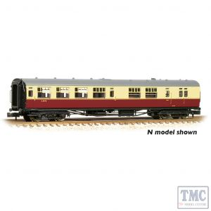 34-727 Bachmann OO Gauge SR Bulleid Brake Third Semi-Open 15'' Vents BR Crimson & Cream
