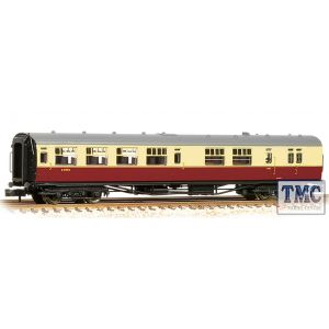 34-727A Bachmann OO Gauge SR Bulleid Brake Third Semi-Open 15'' Vents BR Crimson & Cream