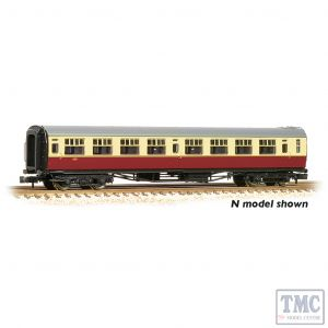 34-776 Bachmann OO Gauge SR Bulleid Third Corridor 15'' Vents BR Crimson & Cream