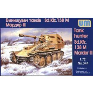 1/72 Tank hunter Sd.Kfz. 138 M Marder III UM 344 Models kits (Pre owned)